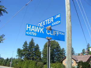Trekking off to Hawk Cliff is a tradition.  My heart skips a couple of beats each time I turned on Hawk Cliff Road